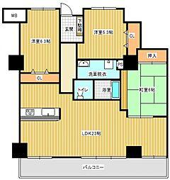 サバービアシティ21 B棟[7階]の間取り