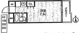アルテハイム武庫之荘[106号室]の間取り