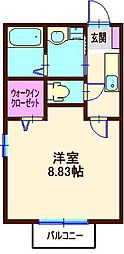 トリニティ東神奈川[103号室]の間取り