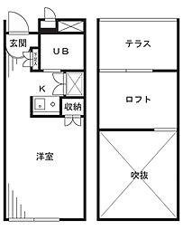 駒鳥アパートメント[302号室]の間取り