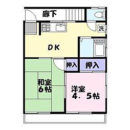 山田アパート[201号室]の間取り