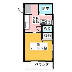 ハイツキヨサト[2階]の間取り