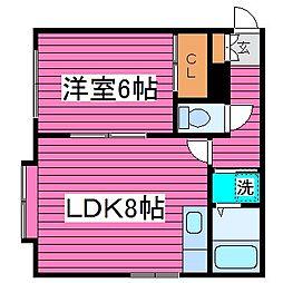北海道札幌市東区東苗穂十五条3丁目の賃貸アパートの間取り