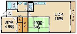 エクシードハイツKANNO[1階]の間取り