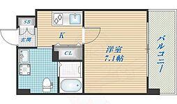JPレジデンス大阪城東2 5階1Kの間取り