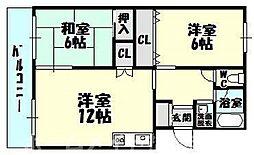 [タウンハウス] 福岡県糟屋郡粕屋町仲原2丁目 の賃貸【/】の間取り