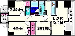 レジディア都島I[11階]の間取り