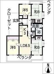 アーバンラフレ志賀17号棟801号室[8階]の間取り