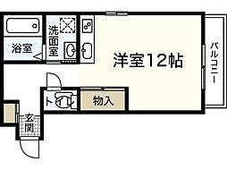 JR山陽本線 広島駅 バス15分 羽衣町下車 徒歩4分の賃貸アパート 1階ワンルームの間取り