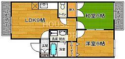 セジュール柿ノ木[102号室号室]の間取り