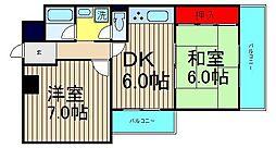 桜川パークマンション[306号室]の間取り