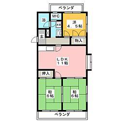 エミナンス竜美丘[3階]の間取り