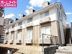 愛知県日進市栄2丁目の賃貸アパートの外観