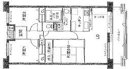白鷹香枦園マンション[6階]の間取り