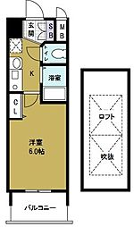 エステムコート難波ウエストサイド大阪ドーム前[3階]の間取り