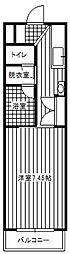 レジデンスコスモス2[1階]の間取り