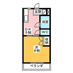 エスポアール[3階]の間取り