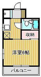 神奈川県川崎市中原区上丸子山王町2丁目の賃貸マンションの間取り