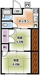 サンハイム[3階31号室号室]の間取り