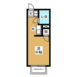 ユニメントWAKATAKE[2階]の間取り