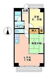トーシンボヌール瑞穂[5階]の間取り