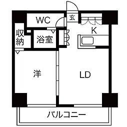 AMSタワー中島[1102号室]の間取り