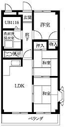 ルネシャルトB棟[2階]の間取り