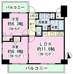 東京都台東区東上野1丁目の賃貸マンションの間取り