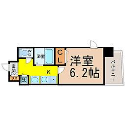 プレサンス桜通アベニュー[708号室]の間取り