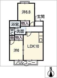 パークタウン三岳E[2階]の間取り