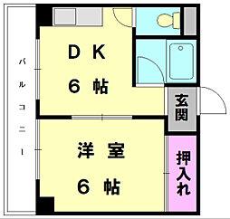 メゾン・ド・めぐみII[4階]の間取り