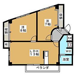 メゾン・ラピー二[3階]の間取り