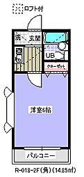 千葉県浦安市東野1丁目の賃貸アパートの間取り