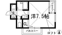 プレステージ天神[4階]の間取り