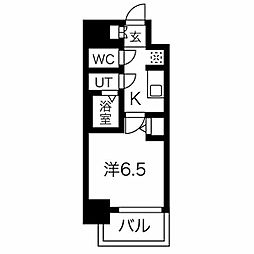 名古屋市営東山線 今池駅 徒歩6分の賃貸マンション 10階1Kの間取り