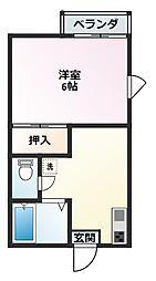 稲荷山ハイツ(イナリヤマハイツ)[1階]の間取り