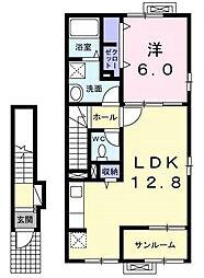 グランツIV[2階]の間取り