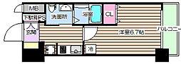 エステムコート梅田・天神橋IIIアヴァンテ 3階1Kの間取り