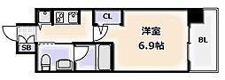 Osaka Metro千日前線 桜川駅 徒歩3分の賃貸マンション 5階1Kの間取り