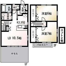 [テラスハウス] 埼玉県朝霞市岡 の賃貸【/】の間取り