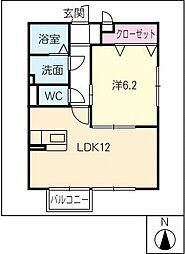 セントスクエアー[2階]の間取り