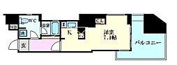 Osaka Metro御堂筋線 梅田駅 徒歩10分の賃貸マンション 8階1Kの間取り
