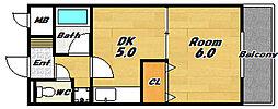クレールシャンブル16[4階]の間取り
