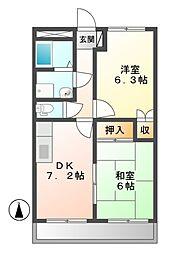 ジュノー[2階]の間取り