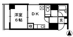 マンション高田館[5階]の間取り