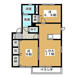 フレーズA[1階]の間取り