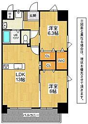 メディプラカーサ[9階]の間取り