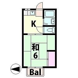 ツダハイツ[2階]の間取り