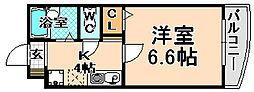 兵庫県伊丹市中央1丁目の賃貸マンションの間取り