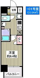 プレミアムコート大正フロント[4階]の間取り